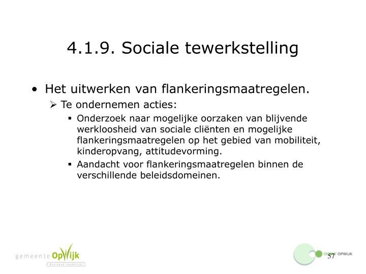 4.1.9. Sociale tewerkstelling
