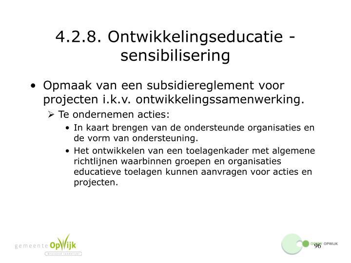 4.2.8. Ontwikkelingseducatie - sensibilisering