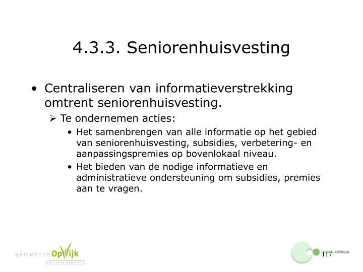 4.3.3. Seniorenhuisvesting