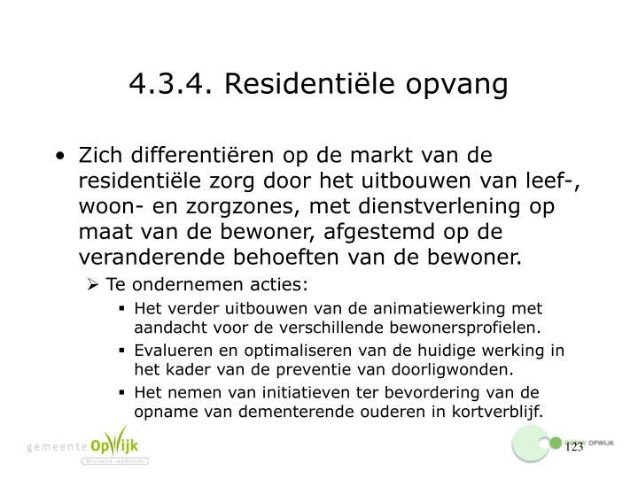 4.3.4. Residentiële opvang