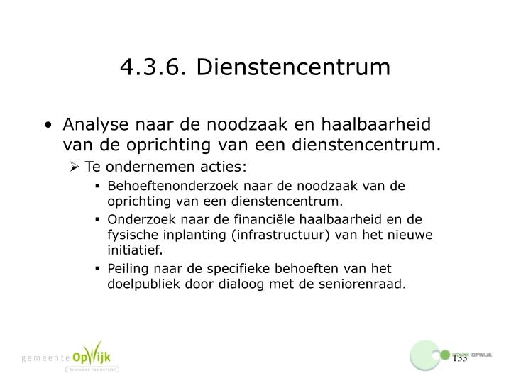 4.3.6. Dienstencentrum
