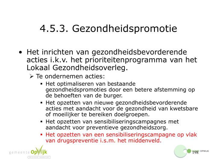 4.5.3. Gezondheidspromotie