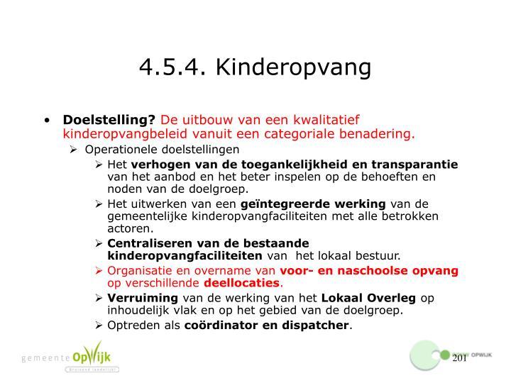 4.5.4. Kinderopvang