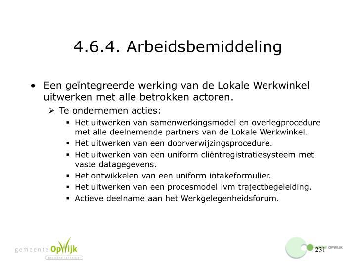 4.6.4. Arbeidsbemiddeling