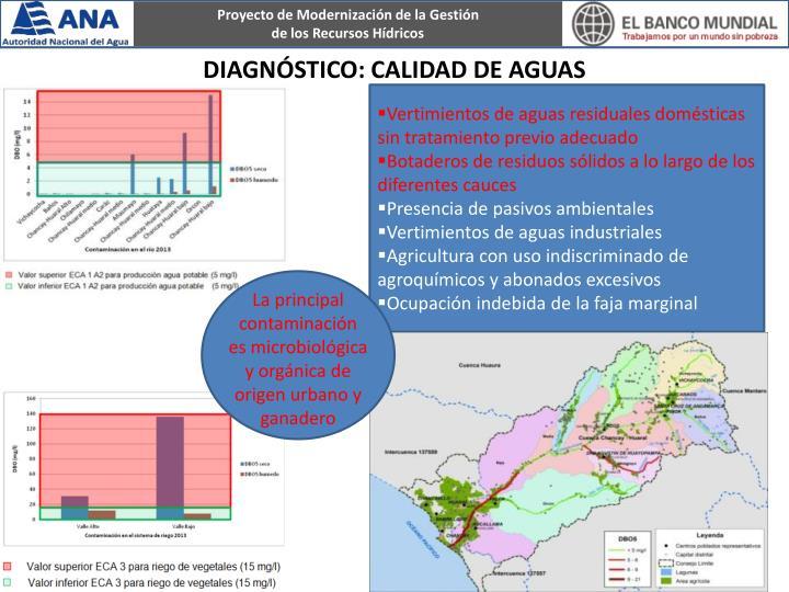 Vertimientos de aguas residuales domésticas sin tratamiento previo adecuado