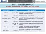 fase 2 etapa de alternativas eventos desarrollados reuniones t cnicas talleres