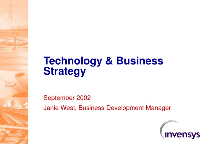 Technology & Business Strategy