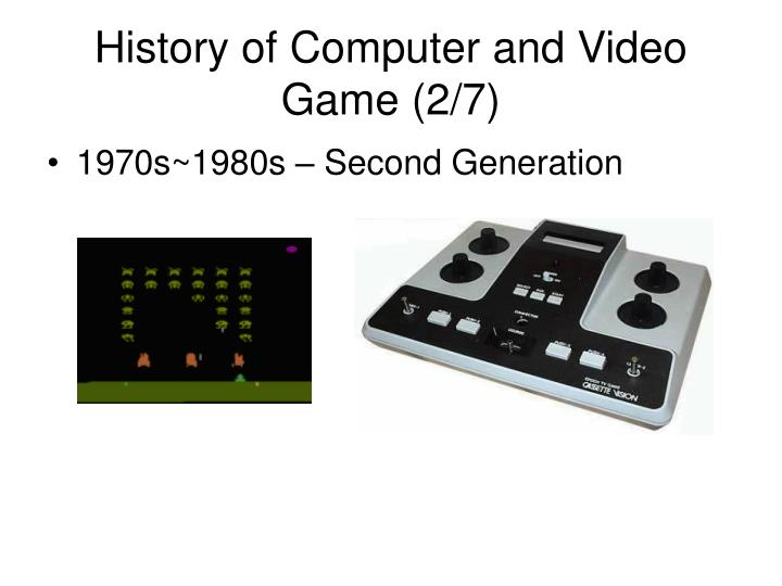 History of Computer and Video Game (2/7)