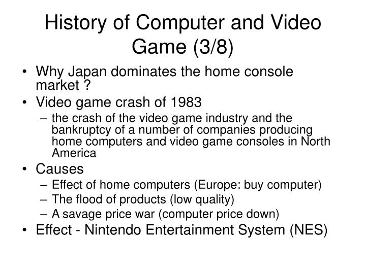 History of Computer and Video Game (3/8)