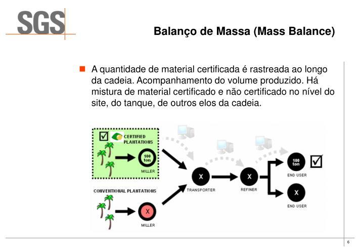 Balanço de Massa (Mass Balance)