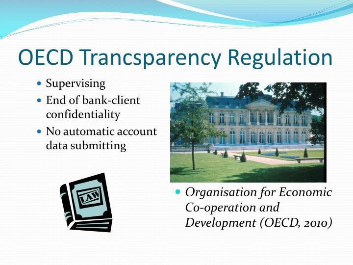 OECD Trancsparency Regulation