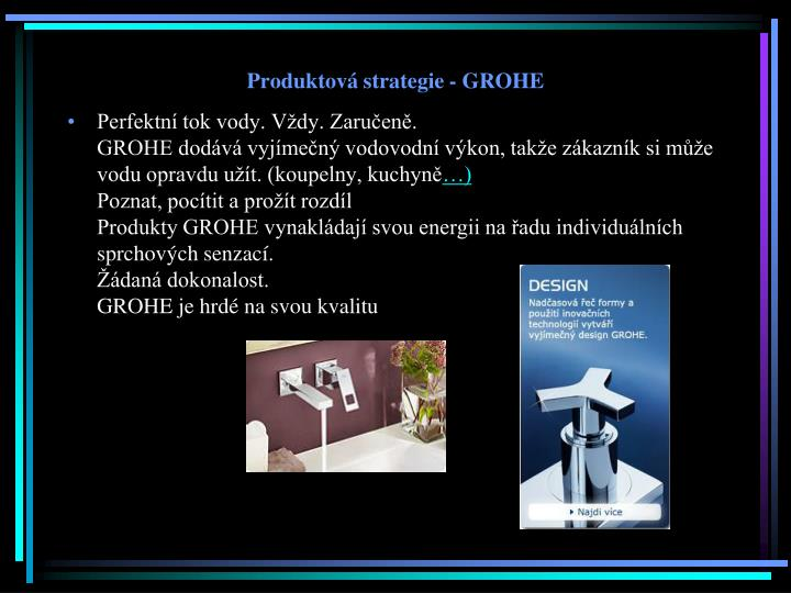 Produktová strategie - GROHE