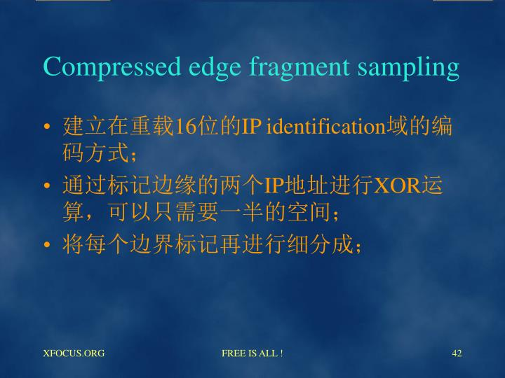 Compressed edge fragment sampling