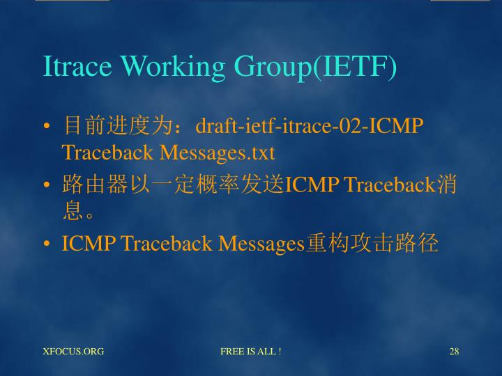 Itrace Working Group(IETF)