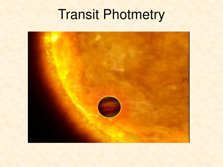 Transit Photmetry