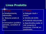 linea prodotto