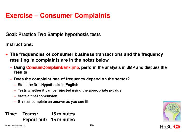 Exercise – Consumer Complaints