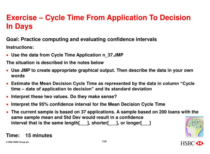 Exercise – Cycle Time From Application To Decision