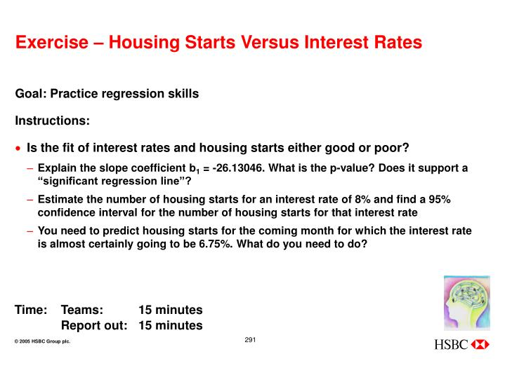 Exercise – Housing Starts Versus Interest Rates