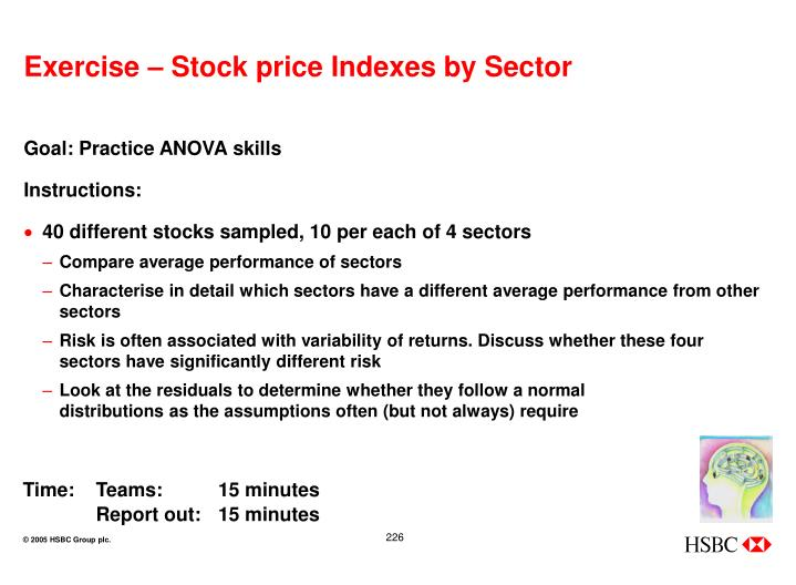 Exercise – Stock price Indexes by Sector