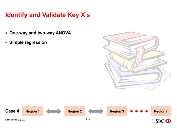 Identify and Validate Key X's