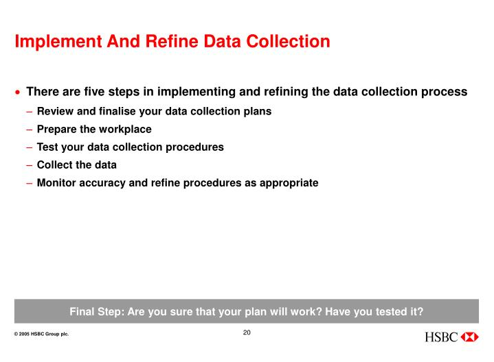Implement And Refine Data Collection