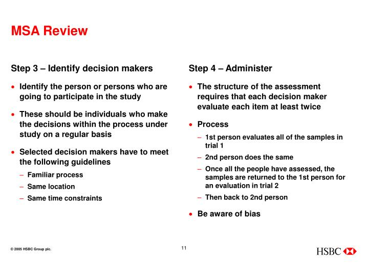 Step 3 – Identify decision makers