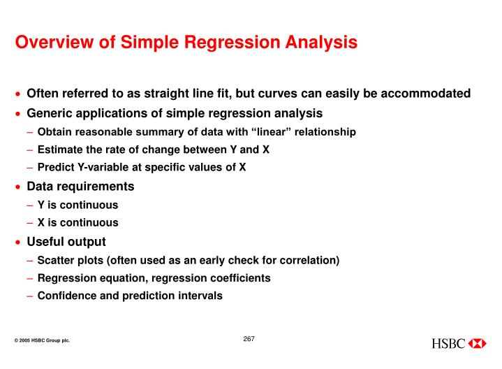 Overview of Simple Regression Analysis