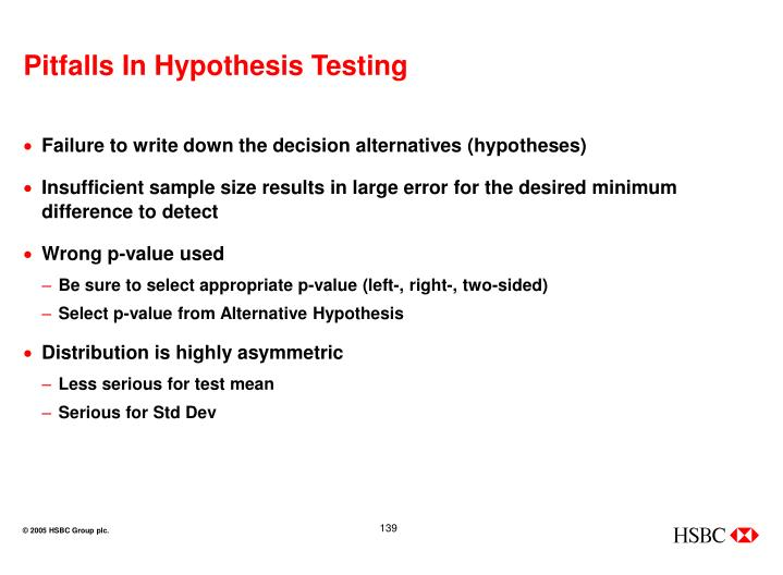 Pitfalls In Hypothesis Testing