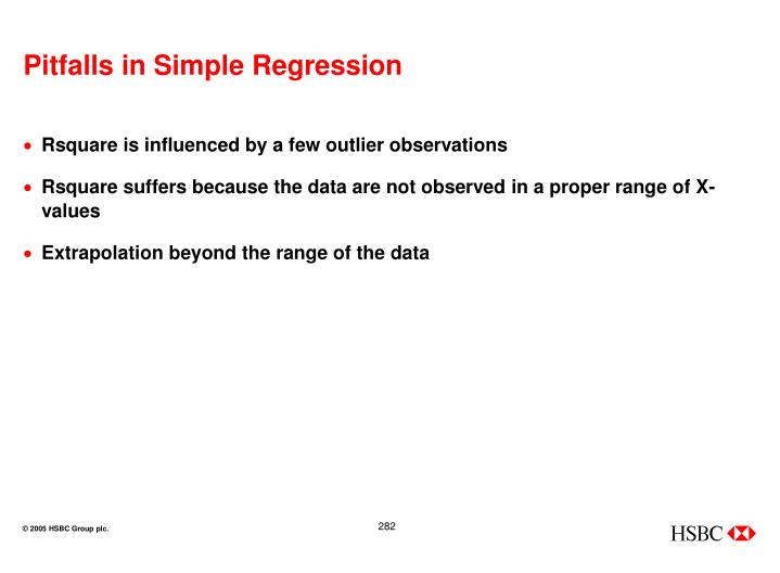 Pitfalls in Simple Regression