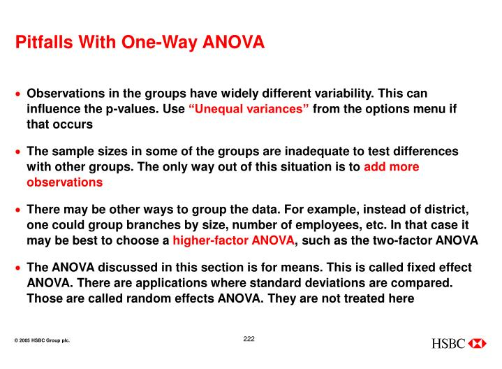 Pitfalls With One-Way ANOVA