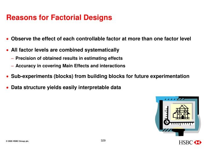 Reasons for Factorial Designs