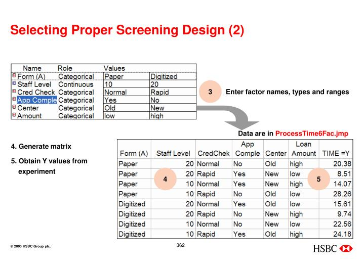 Selecting Proper Screening Design (2)