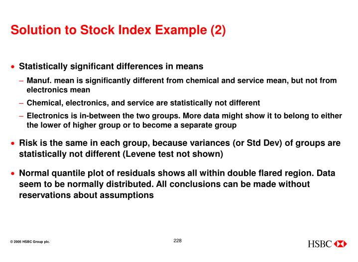 Solution to Stock Index Example (2)