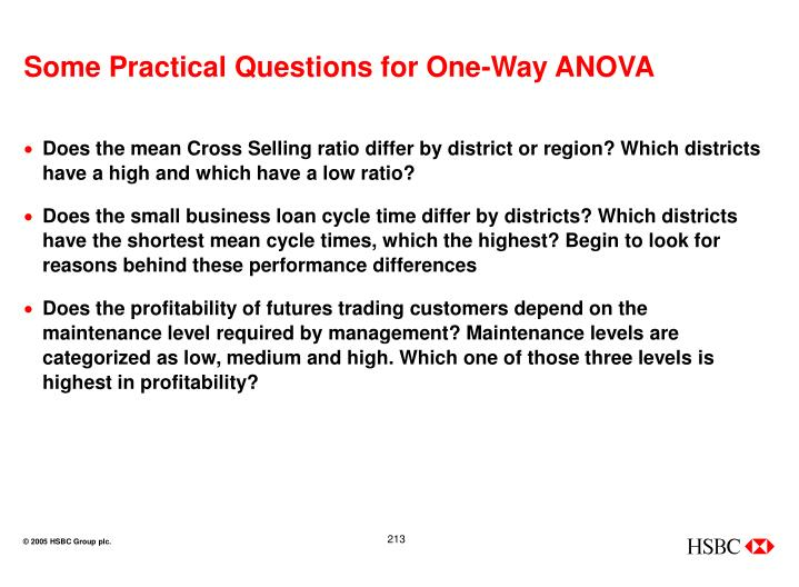 Some Practical Questions for One-Way ANOVA