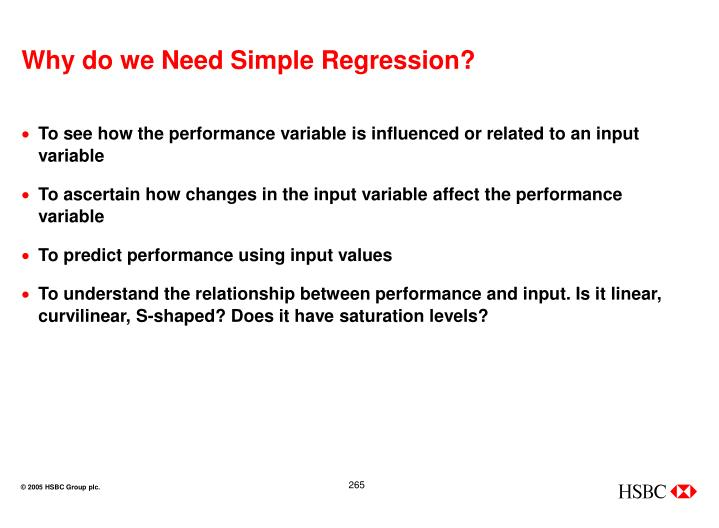 Why do we Need Simple Regression?