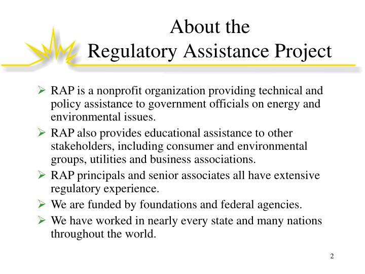 About the regulatory assistance project