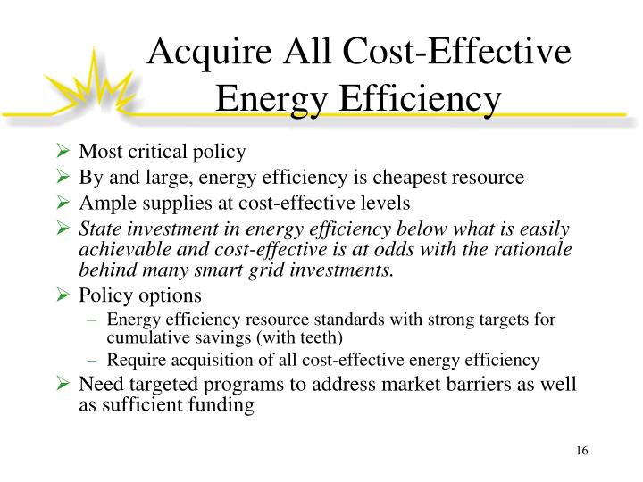 Acquire All Cost-Effective Energy Efficiency