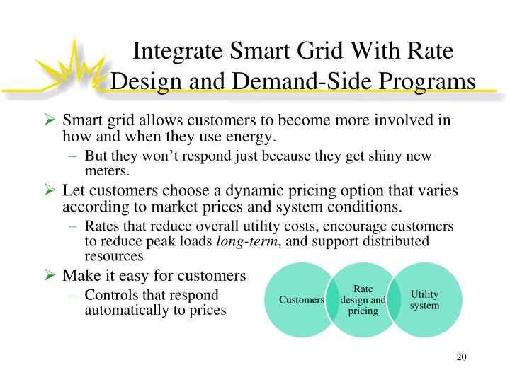 Integrate Smart Grid With Rate