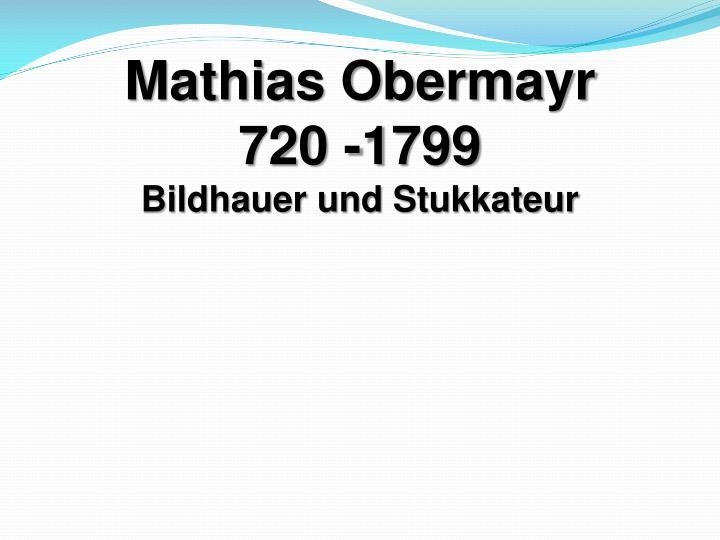 Mathias Obermayr