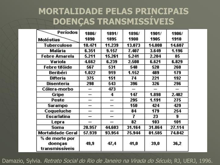 MORTALIDADE PELAS PRINCIPAIS