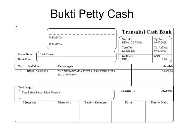 Bukti Petty Cash