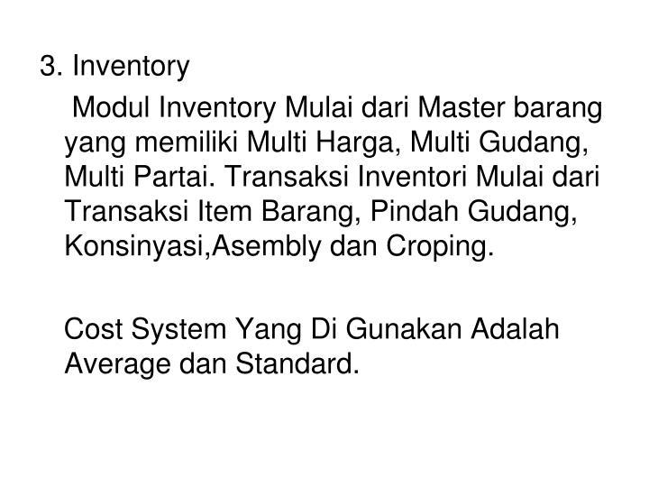 3. Inventory