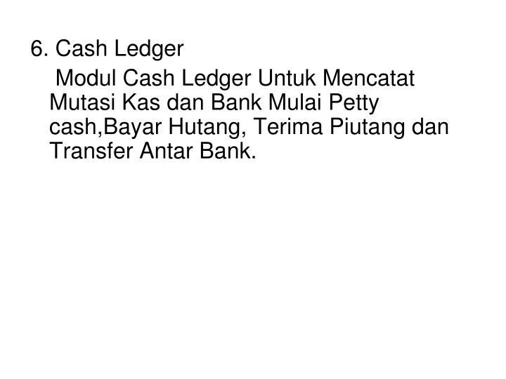 6. Cash Ledger