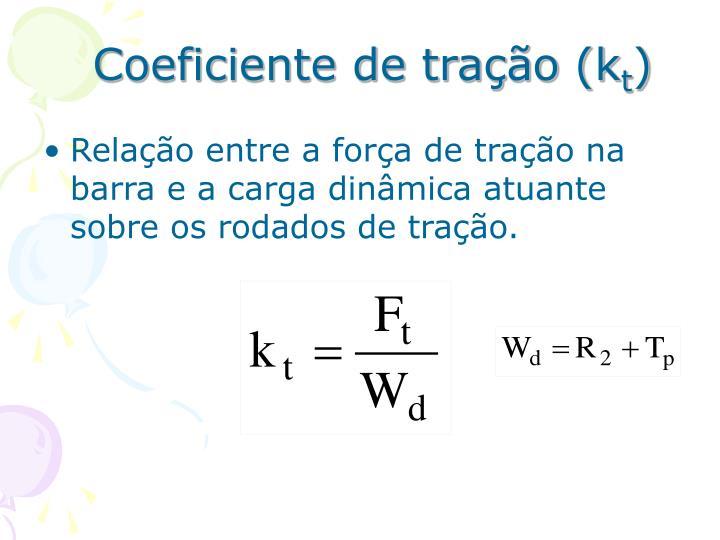 Coeficiente de tração (k