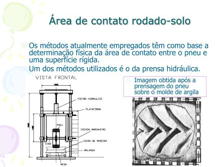 Área de contato rodado-solo