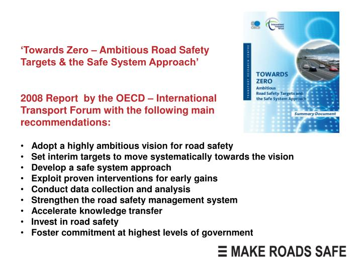 'Towards Zero – Ambitious Road Safety