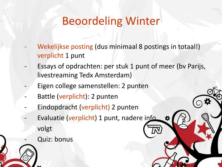 Beoordeling Winter