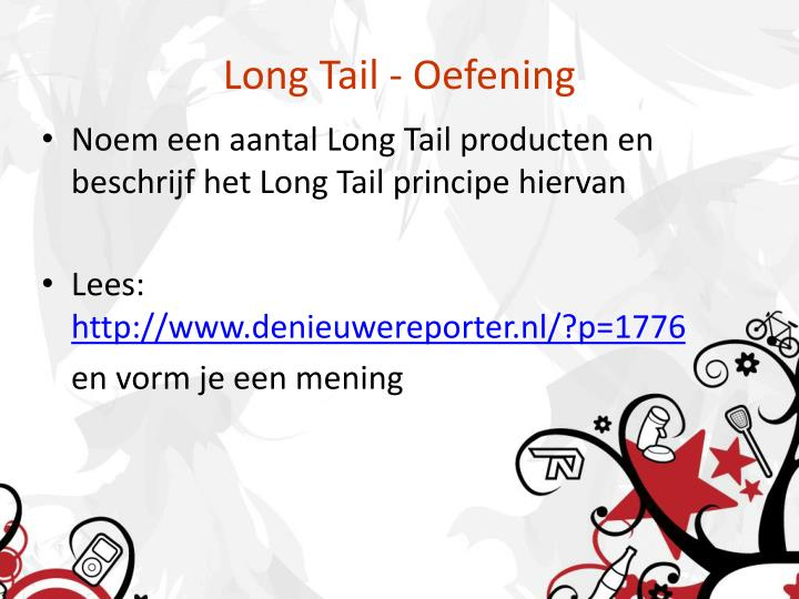 Long Tail - Oefening