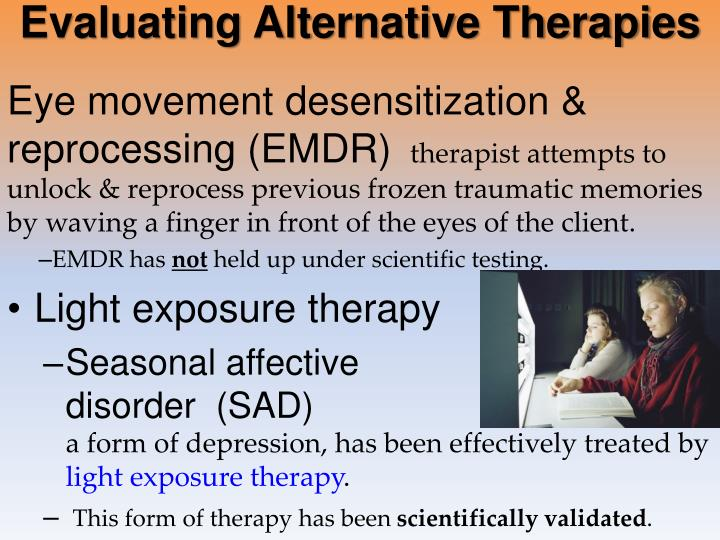 Evaluating Alternative Therapies